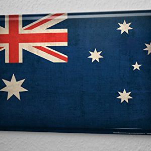 Blechschild-Welt-Reise-Australien-Flagge-Wand-Deko-Schild-20X30-cm-0
