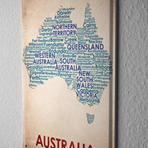 Blechschild-Welt-Reise-Australien-Landkarte-Wand-Deko-Schild-20X30-cm-0