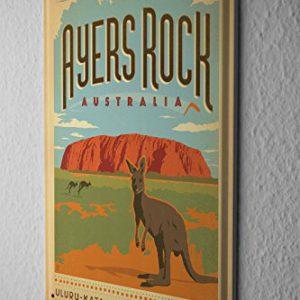 Blechschild-Welt-Reise-Ayers-Rock-Australien-Knguru-National-Park-Wand-Deko-Schild-20X30-cm-0