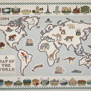 map-of-the-World-28-fdig-Aida-Stoff-Kreuzstich-Karte-0