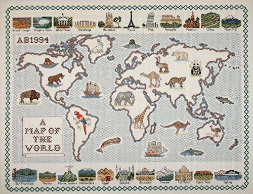 map-of-the-World-28-fdig-Aida-Stoff-Kreuzstich-Karte-0