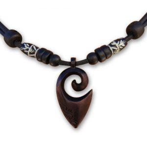 HANA-LIMA--Surferkette-Halskette-Freundschaftskette-Lederkette-Handarbeit-Koru-Maori-Neuseeland-Herrenkette-Damenkette-0
