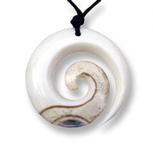 ISLAND-PIERCINGS-Handgefertigter-Amulett-Anhnger-Spirale-im-Maori-Koru-Design-inkl-Band-PB144-0