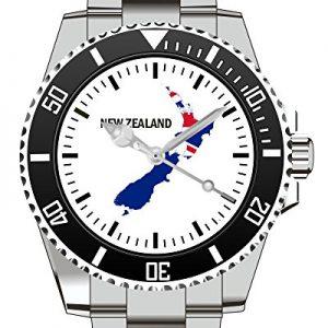 Neuseeland-New-Sealand-Land-Umriss-Uhr-Armbanduhr-1266-0