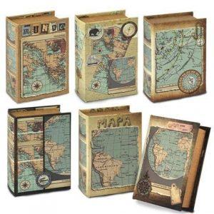 Schachtel-in-Buchform-WELTKARTE-1-Stck-10x14-cm-0