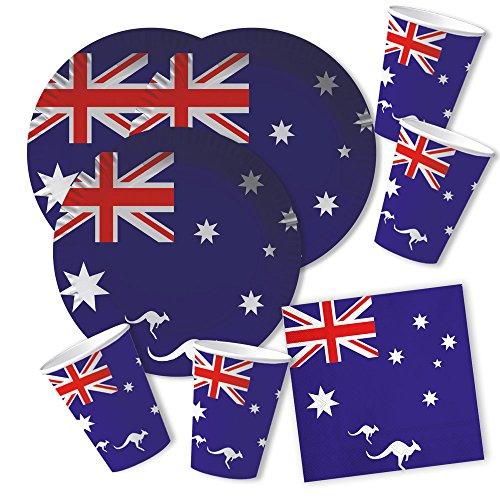 60-teiliges-Party-Set-Australien-Teller-Becher-Servietten-fr-20-Personen-0