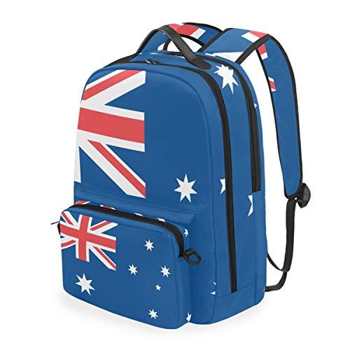 Australien-Flagge-2-in-1-Rucksack-abnehmbar-Schultertasche-Schultasche-Computertasche-Crossbody-Bag-Daypack-0