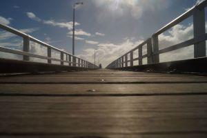 Ein 2 Kilometer Spaziergang auf dem Meer