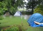 Überschwemmung im Kiwiana Hostel