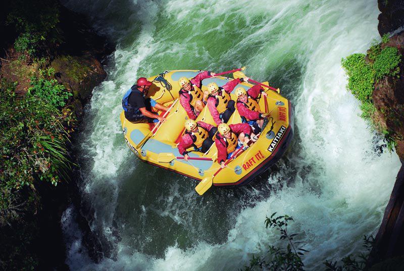 Rafting mit 7 m hohem Wasserfall am Kaituna River