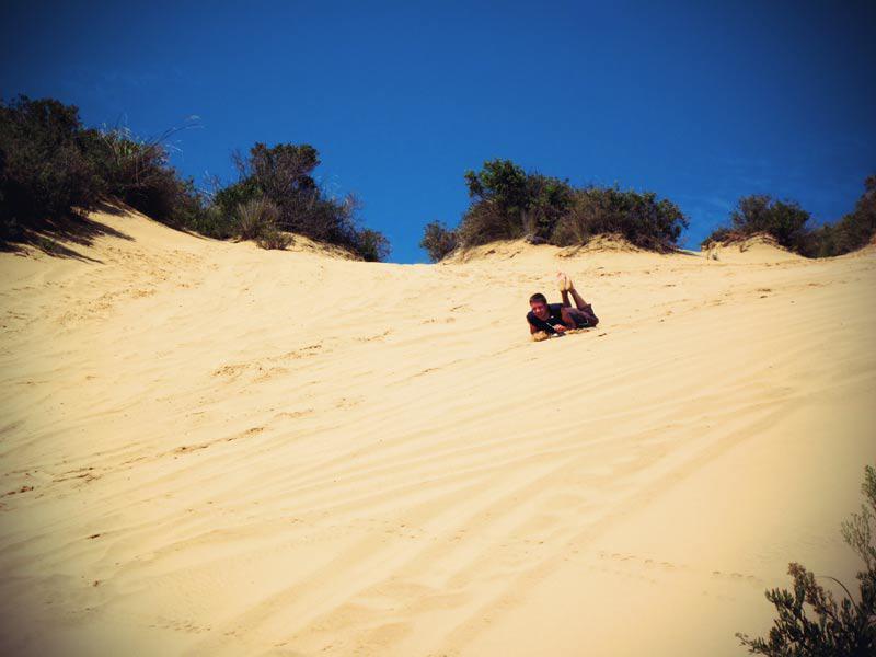 Die unbekannteren Sanddünen bei Ahipara in den Northlands