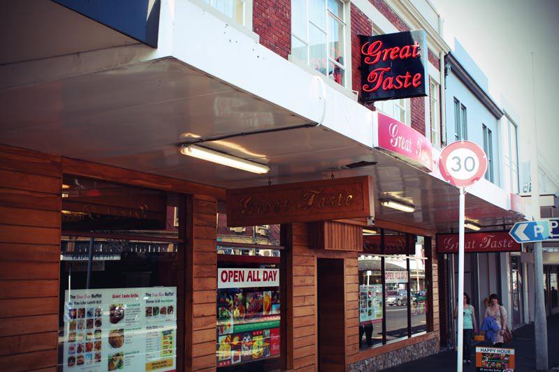 Im Great Tase Restaurant in Dunedin Neuseeland gibt es oft All You can Eat Buffet