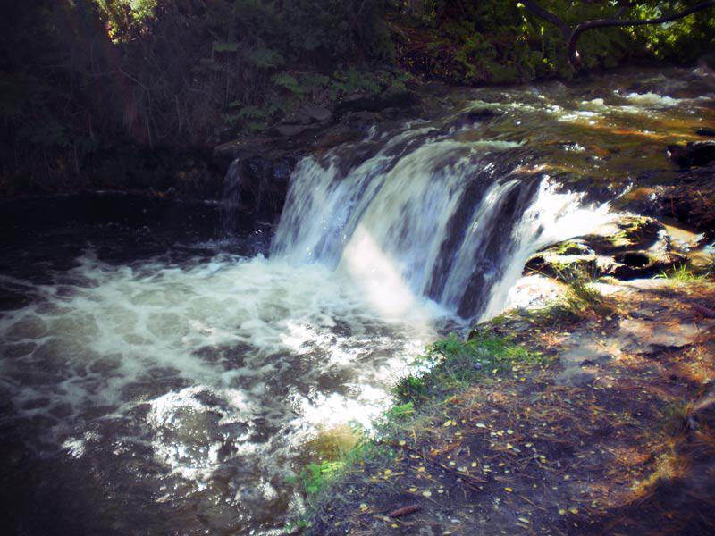 Heiße Quellen des Kerosene Creek bei Rotorua Neuseeland