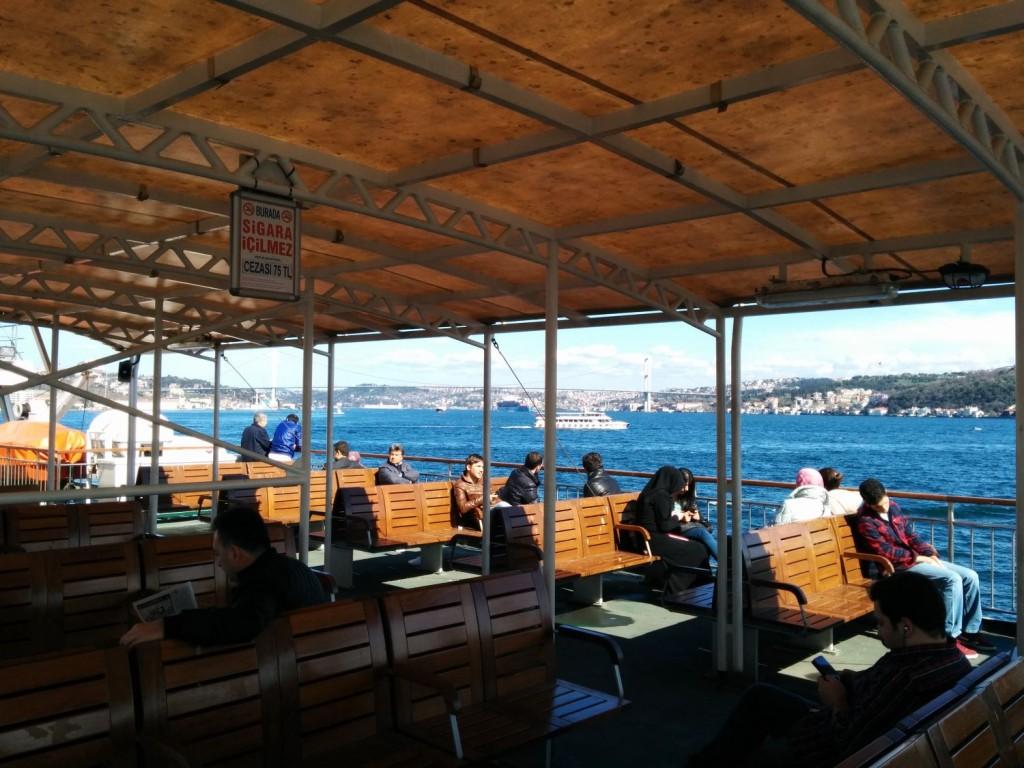 Boot über Bosporus