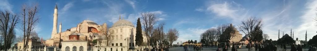 Hagia Sophia und blaue Mosche