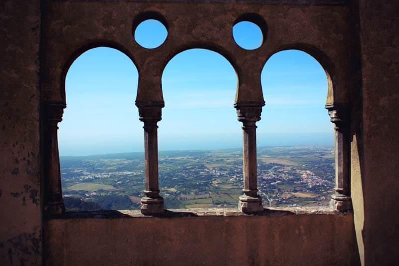 Sintra Portugal Aussicht auf Atlantik