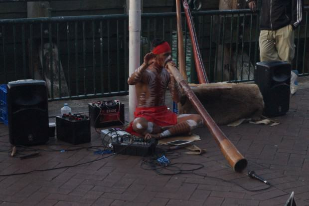 Didgeridoo-Spieler Circular Quay Sydney