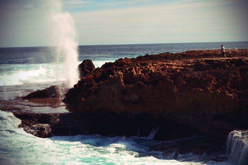 Die Blowholes von Point Quobba