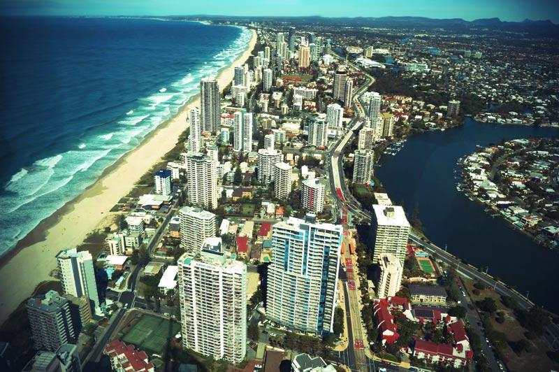 Panorama über die Gold Coast.