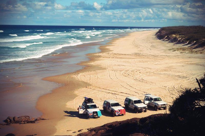 Seventy Five Mile Beach auf Fraser Island