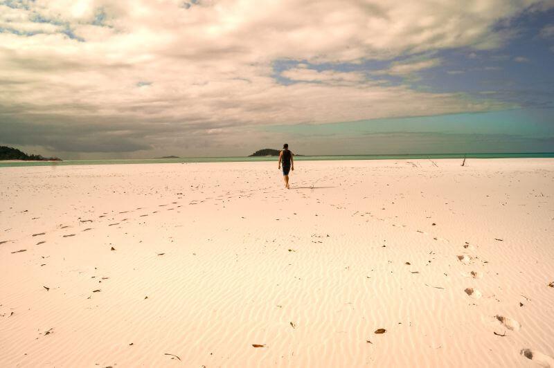 Whitehaven Beach an der Ostküste Australien