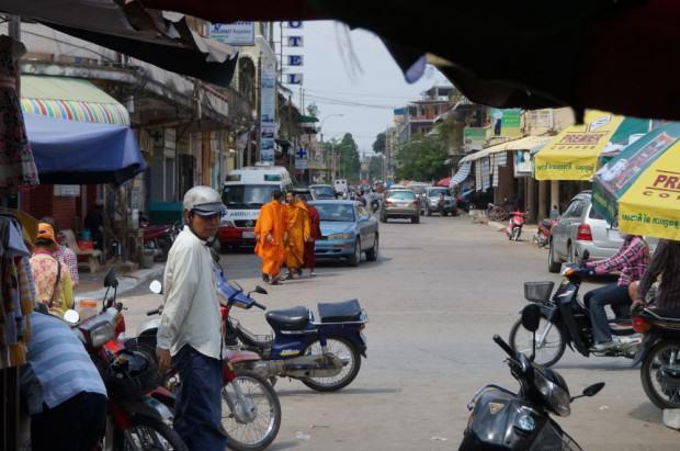 Battambang Straßenszene