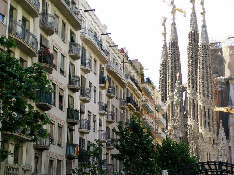 Balkone vor der Sagrada Familia