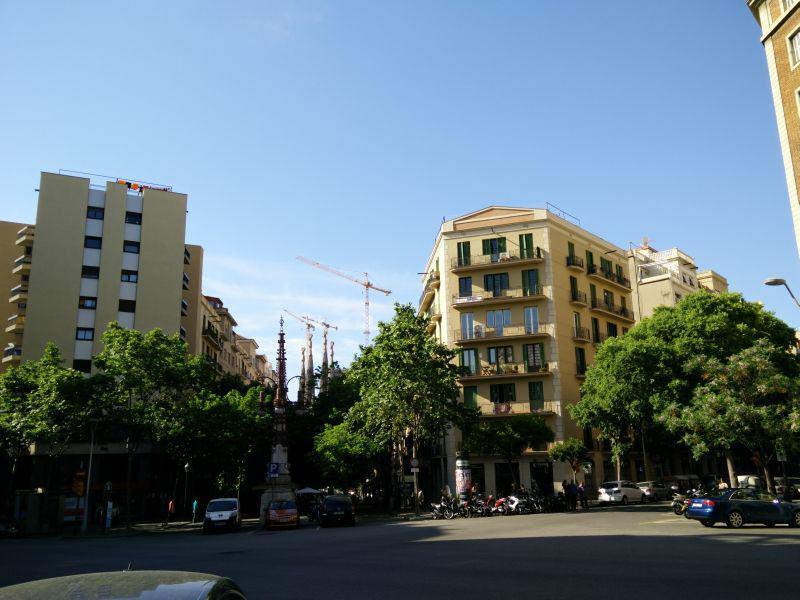 Balkone in der Nähe der Sagrada Familia