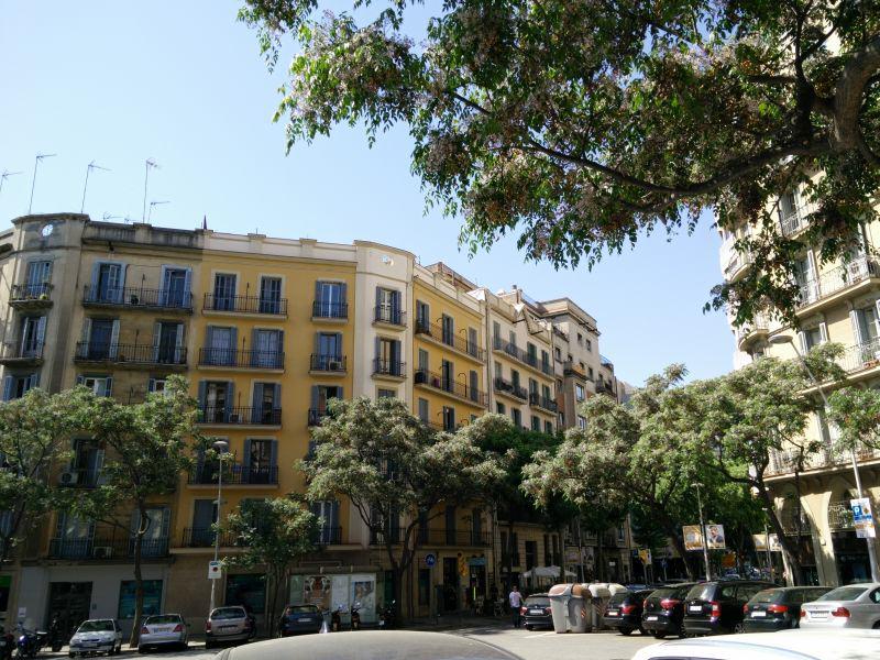 typische Balkone in Barcelona