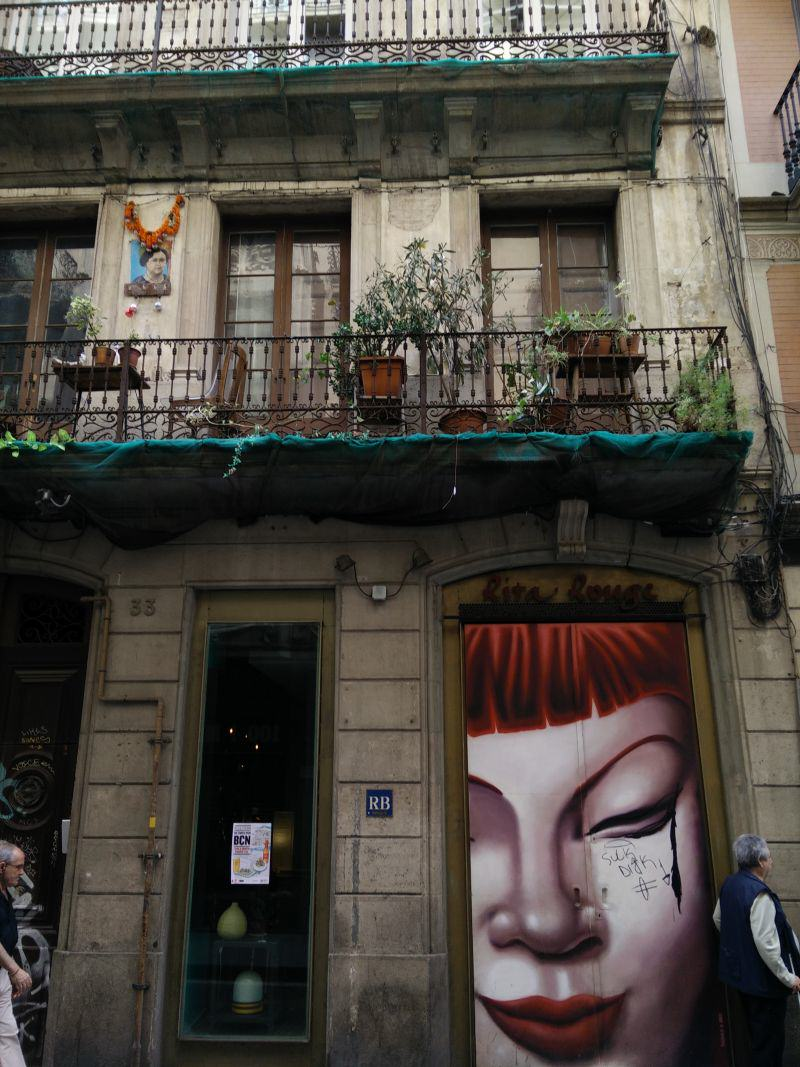 Barcelona Balkone in El Raval
