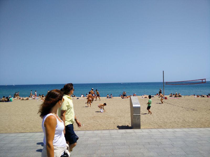 Strandleben in Barceloneta