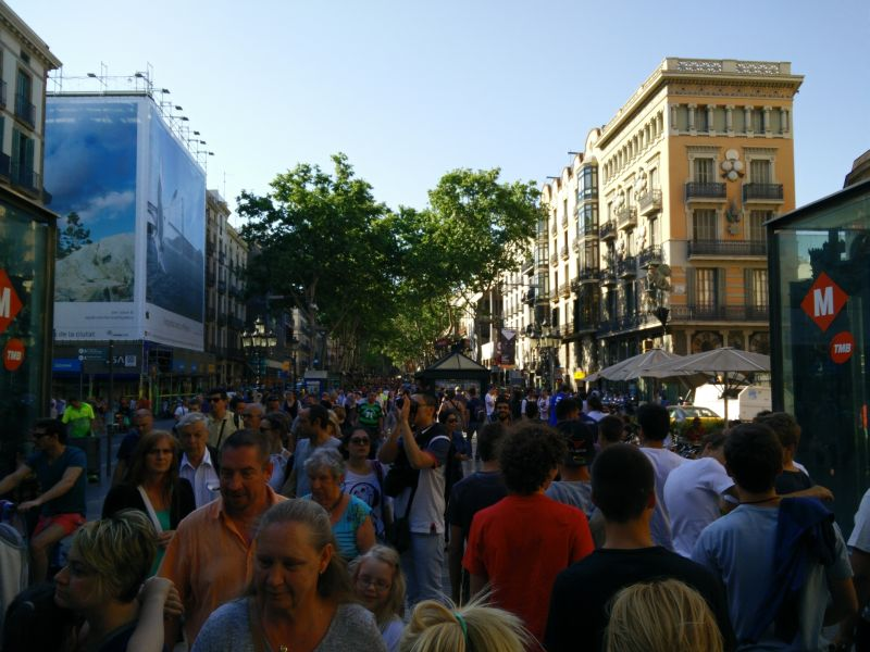 Barcelona La Rambla Menschenmengen