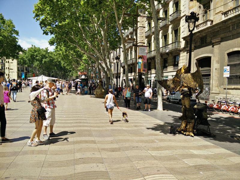 Straßenkünstler La Rambla