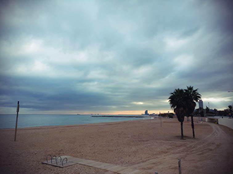 Der strand von Barceloneta