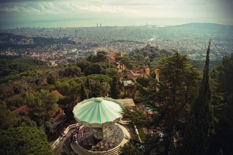 Ausblick über Barcelona von Tibadabo