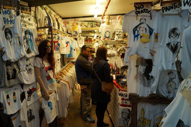 London Camden Market T-Shirt Shop