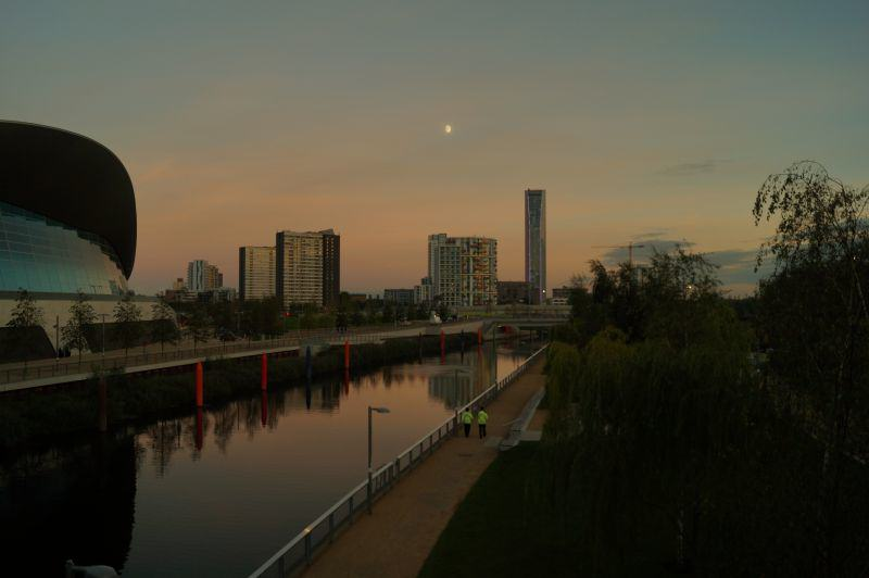 Olympic Park Sonnenuntergang