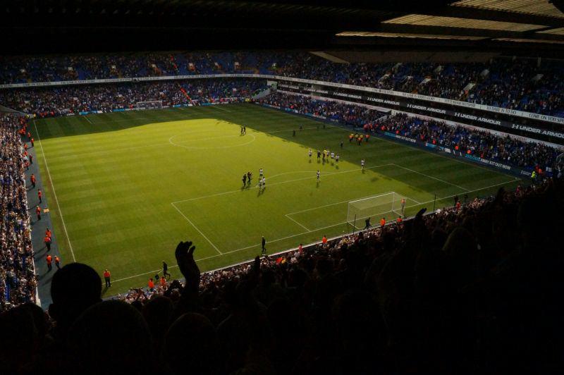 Stadion an der White Hart Lane in Tottenham.