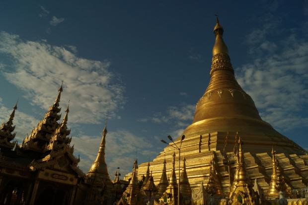 yangon goldene shwedagon pagode Nationalheiligtum