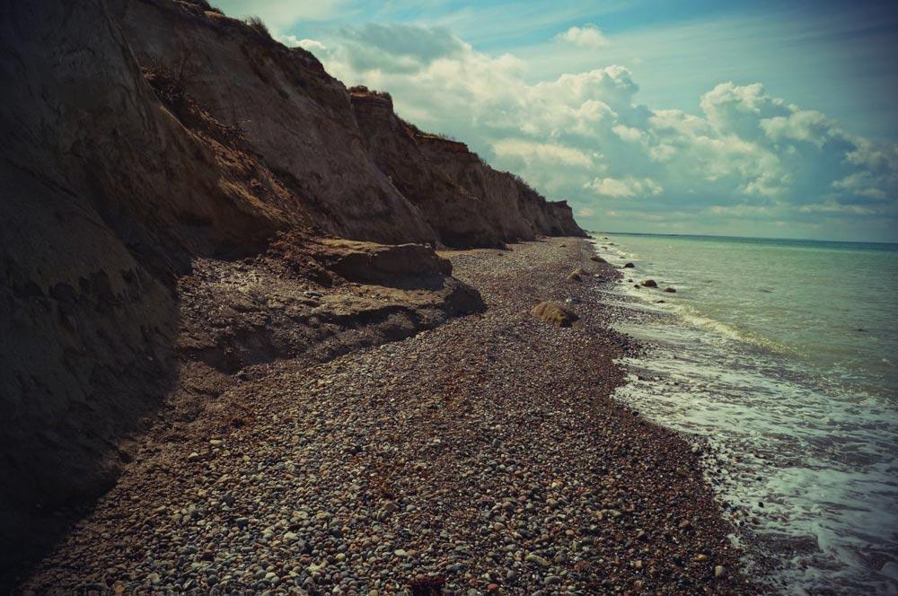 The steep coast of Ahrenshoop