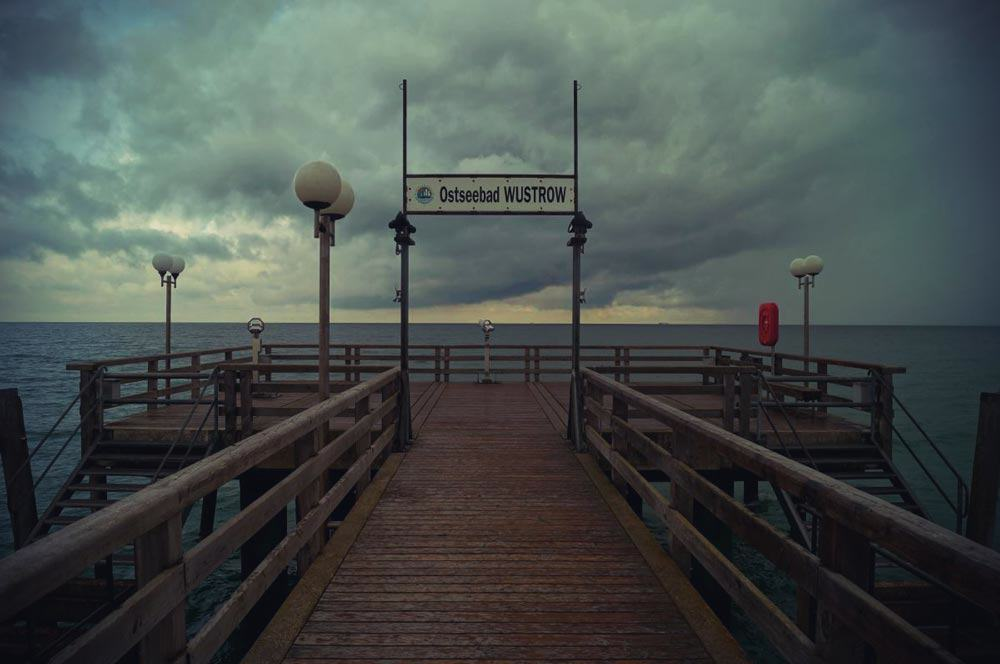 the pier in the Baltic resort of Wustrow.