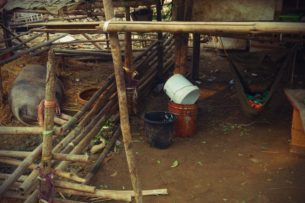 Hütte am Ayayarwady in Mandalay