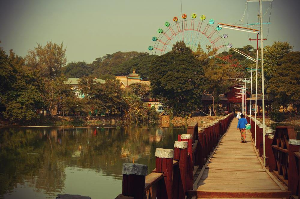 Spaziergang durch Mandalay