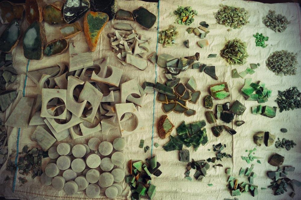 Jade in Mandalay auf dem Markt
