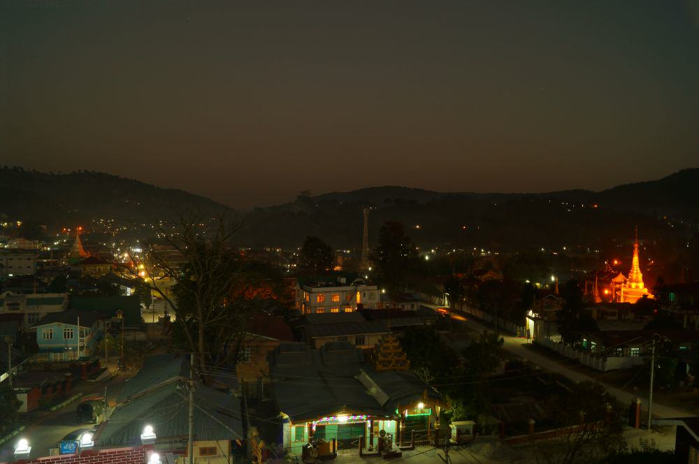 Ausblick auf Kalaw vom Golden Kalaw Inn