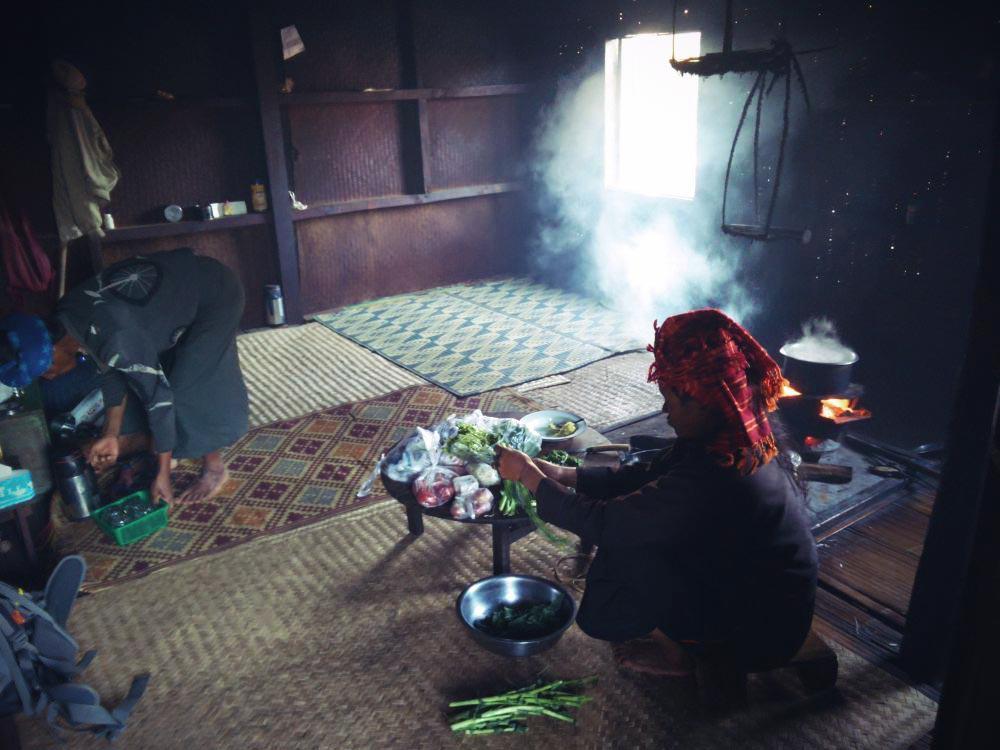 Wanderung Kalaw Inle See Hütte von Einheimischen