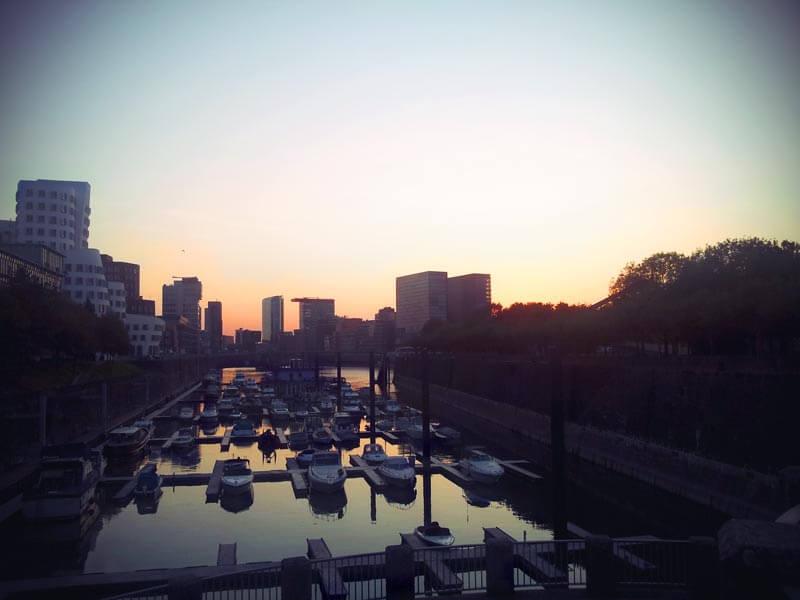 Medienhafen Düsseldorf sunset