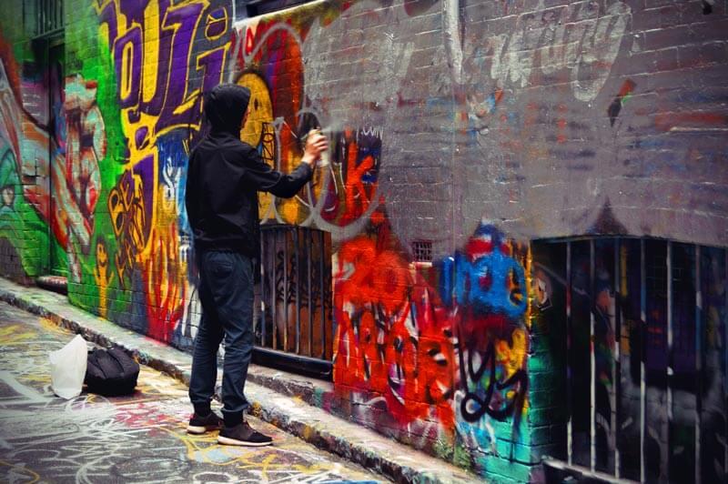 Grafitti-Künstler Hosier Lane Melbourne