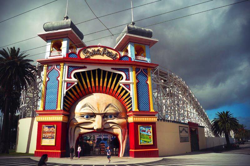 Luna Park Eingang in St. Kilda, Melbourne