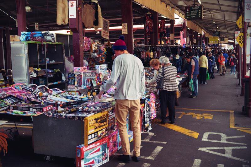 Stand im Queen Victoria Market Melbourne